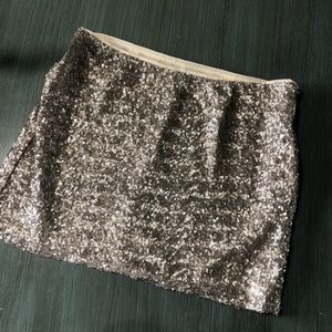 Gap Gold Sequins Mini Skirt